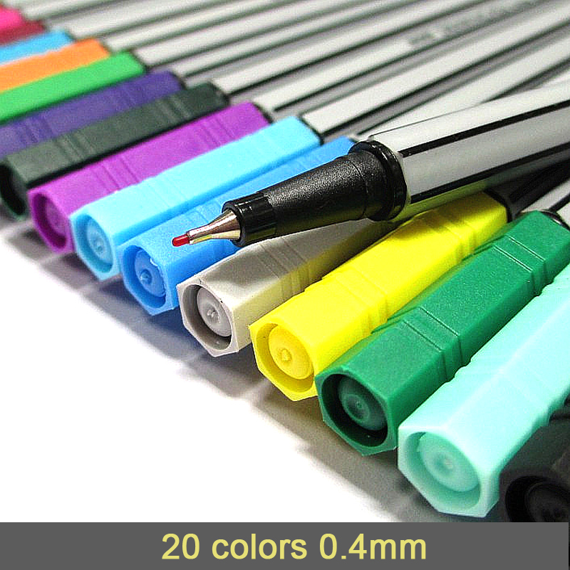 0 4 Mm 20 Colors Fineliner Pens Marco Super Fine Draw not Stabilo Point 88 Marker