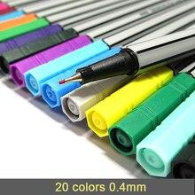0,4 Mm 20 Farben Fineliner Stifte Marco Super Feine Ziehen (nicht Stabilo Punkt 88) Marker Stift Auf Wasserbasis Verschiedene Tinte Kein nicht-tox Material