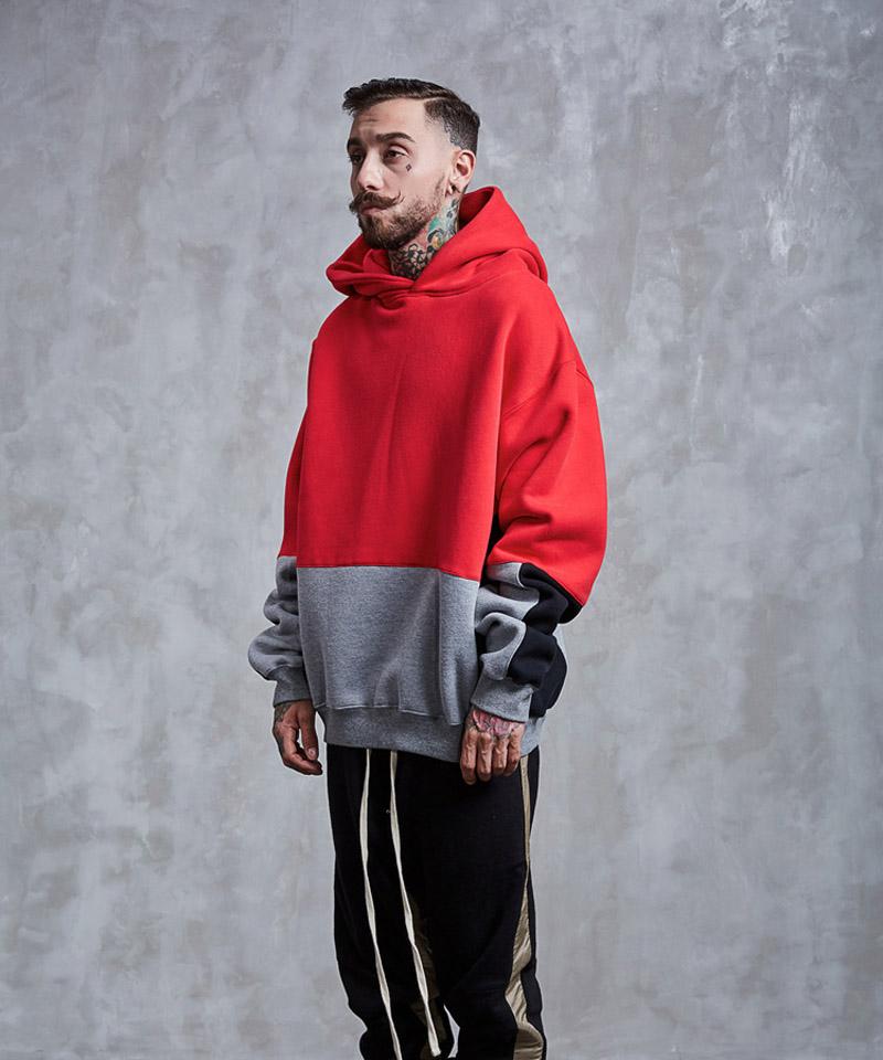 Color Block Patchwork Fleece Hoodies 5
