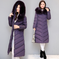 Homemade High Quality Winter Jacket Women Elegant Ultra Large Fur Collar Down Cotton Padded Jacket Women