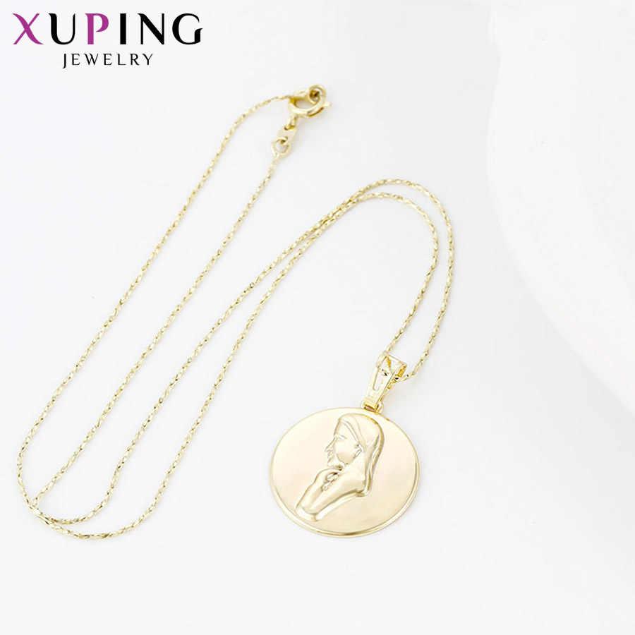 Xuping エレガントなシンプルなチャームスタイルネックレスペンダント女性ガールズジュエリーブラックフライデーギフト S111 、 2-32736