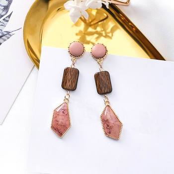 Vintage Marble Stone Drop Earrings