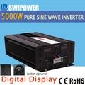 5000 W de onda senoidal pura energia solar inversor DC 12 V 24 V 48 V a 110 V AC 220 V display digital