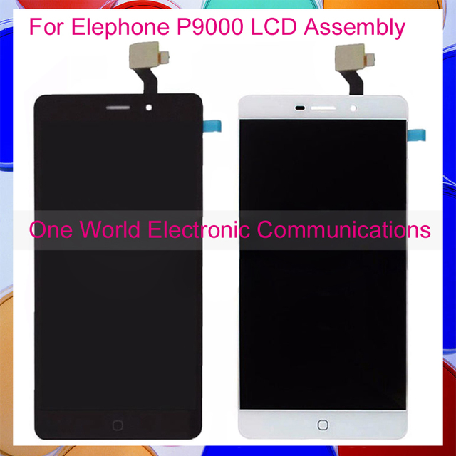 High Quality Black White For Elephone P9000 Full LCD Screen Display Digitizer With Touch Screen Complete Assembly Tracking Code