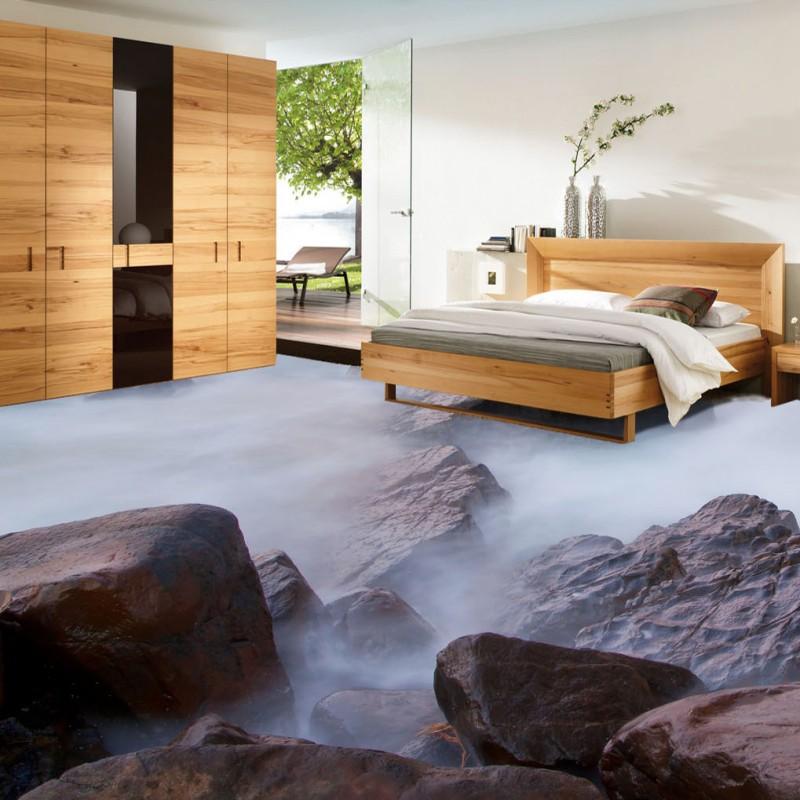 ФОТО Free Shipping Dream Artistic Stone Coast 3D Living Room Bathroom Floor self-adhesive square coffee house flooring mural
