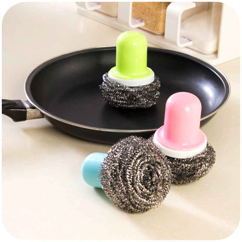 Cleaning Brush Stainless Steel Brush Magic Stick Metal Rust Remover Cleaning Stick Wash Brush Pot Kitchen Cooking Tools