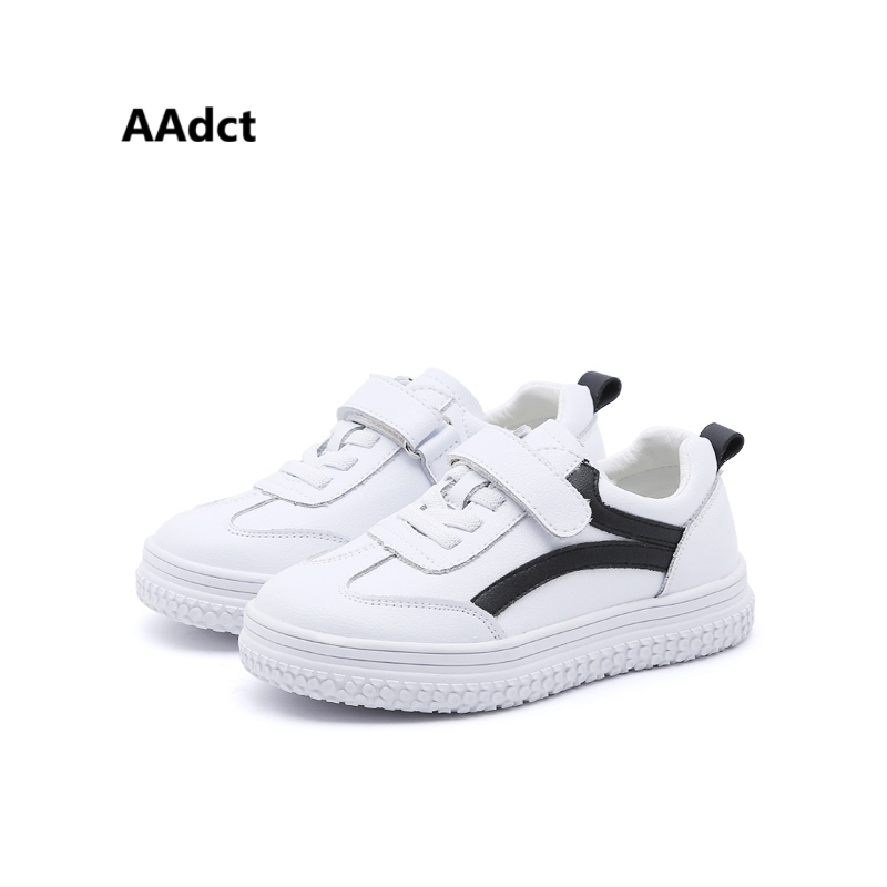 AAdct new 2018 boys shoes running sports girls shoes sneakers flats Brand PU leather chi ...
