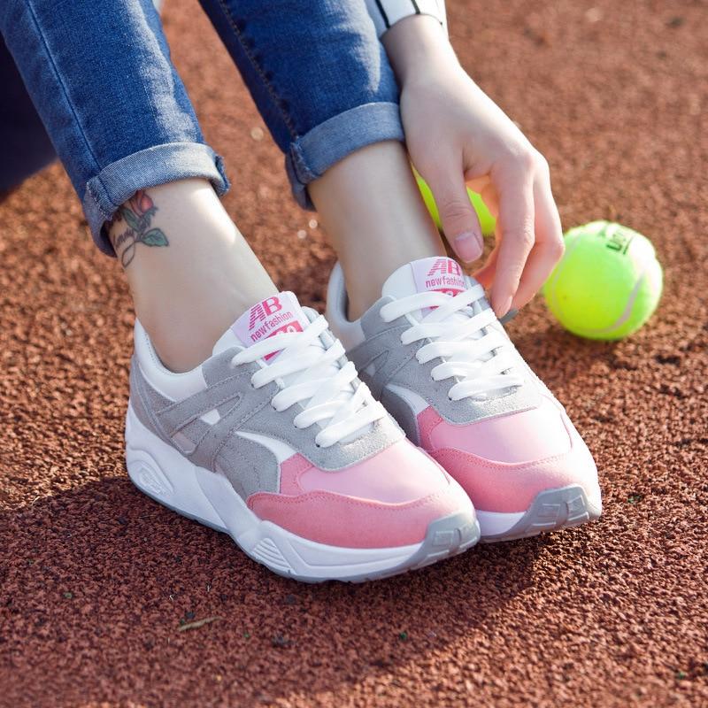 hot sale wlking shoes for women sport shoe sneakers spring breathable low heel footwear good quality free ship women run shoe