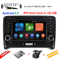 DSP ips Android 8,0 Octa Core 2 Дин DVD gps для Audi TT MK2 8J 2006 2007 2008 2009 2010 2011 2012 мультимедийный плеер радио