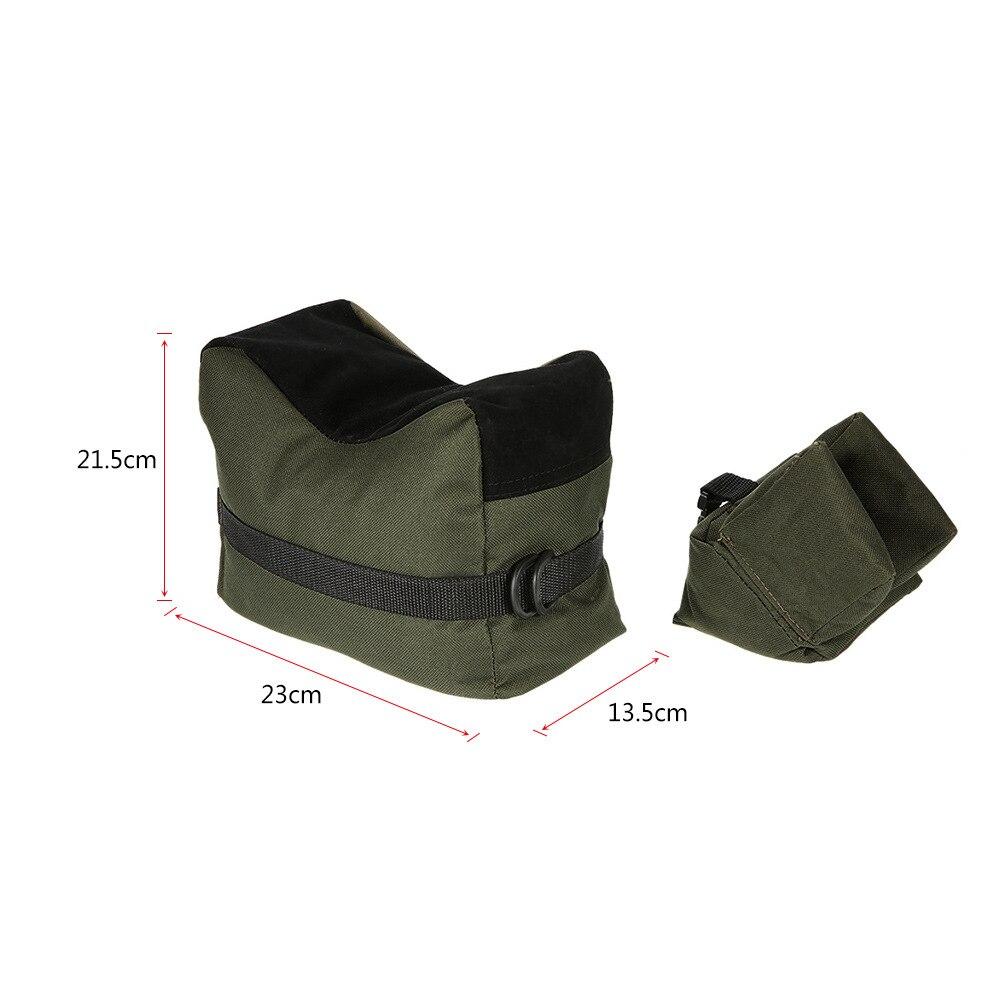 Sniper Hunting Shooting Bag Gun Front Rear Bag Rest Target Stand Rifle Support Sandbag Bench Unfilled Outdoor Tack Driver