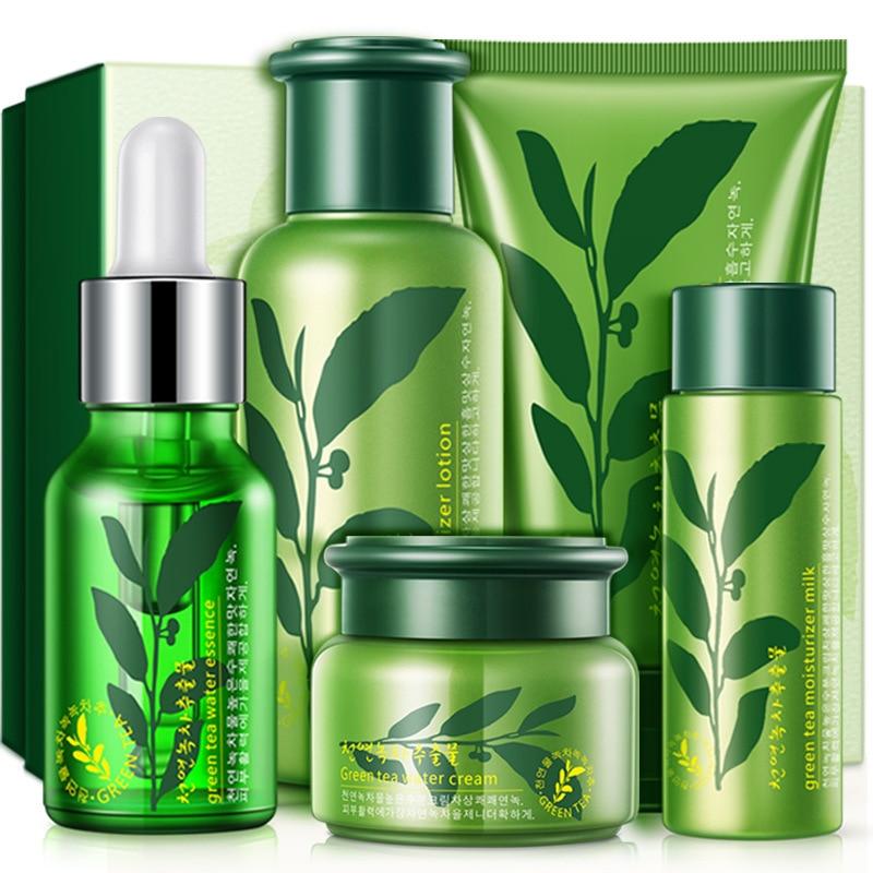 Conjunto Blanqueamiento Hidratante Cuidado de la piel Crema Facial Esencia Loció