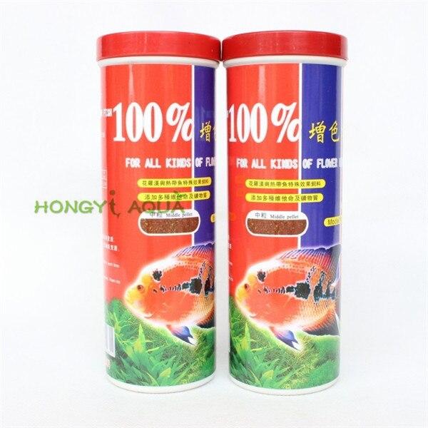 1 piece granules 200g flower rohan feed tropical fish feed 100% increase color aquarium fish food fish tank fish feed
