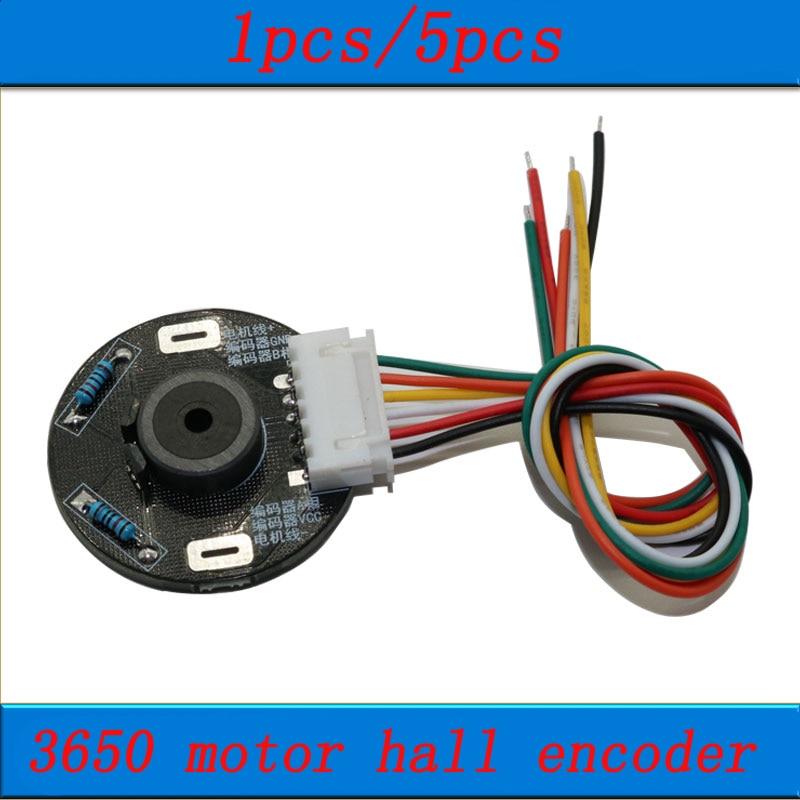 1pcs/5pcs 3650 Motor Bidirectional Hall Encoder Magnetic Code Wheel Magnet Induction Rotation 11PPR 22 Bit Encoders DC 3.3V/5V
