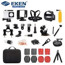 Acessórios conjunto para gopro go pro herói 6 5 4 3 kit de montagem para sjcam para xiaomi mijia para yi 4k eken h9 ação câmera