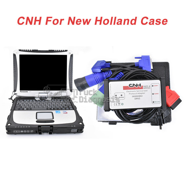 1be681c70f55 US $130.66 6% OFF|9.0 CNH est diagnostic kit New Holland CASE Agriculture  Truck diagnostic scanner tool with cf19 laptop-in Car Diagnostic Cables &  ...