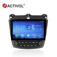 HACTIVOL 10.1 Quad core car radio gps navi for Honda Accord 7 2003 2007 android 7.0 car DVD video player with 1G RAM 16G ROM