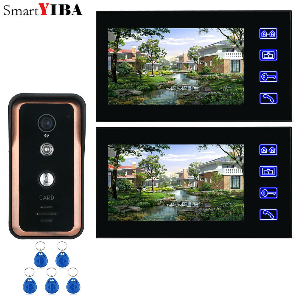 RFID Keyfobs Access Control 7 Inch Video Intercom Deurintercom Kleur Visuele Familie Video Deur Entry Telefoontje Systeem