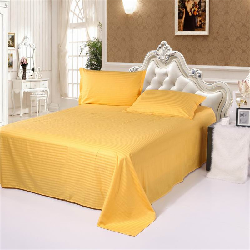 1pcs 100% pamuk čvrste boje Stan Sheet posteljina Twin Full Queen - Tekstil za kućanstvo - Foto 5
