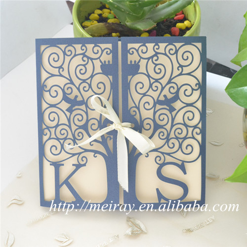 Wedding cards invitation card craft supplies paper sleeves for wedding cards invitation card craft supplies paper sleeves for invitations happiness tree laser cut invitation sleeves in cards invitations from home stopboris Choice Image