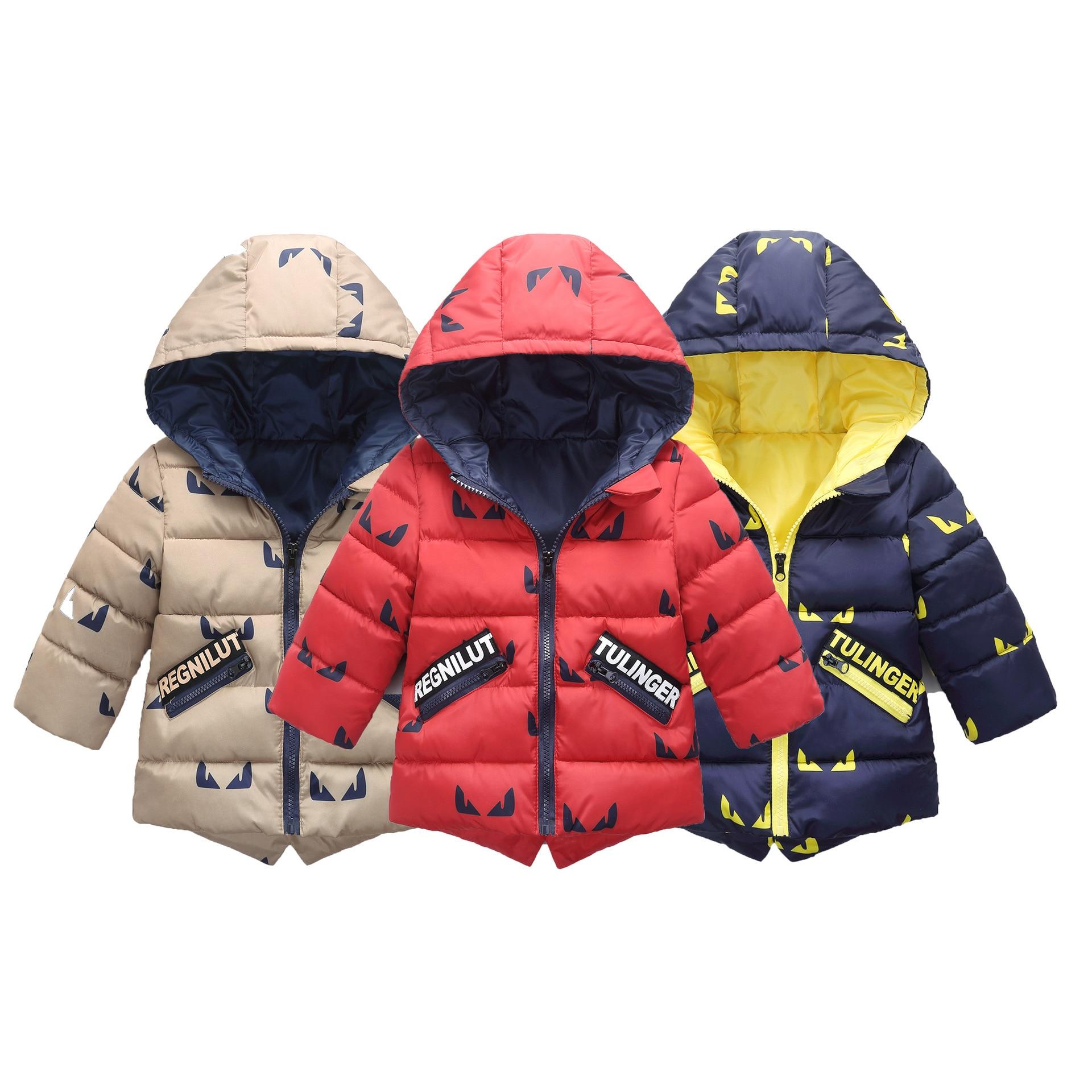 Новинка 2017 года Зима стили Детская пуховая одежда для маленьких мальчиков Хлопковая куртка для девочек с капюшоном Открытый Костюмы зимнее...