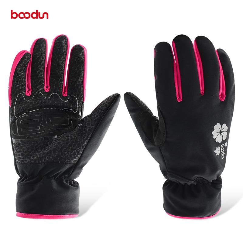 Boodun New Winter Snowboard Gloves For Women Ski Gloves Windproof Waterproof Non-slip Skating Skiing Gloves Warm Mittens S M L