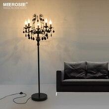 Vintage 5 Lights Crystal Floor Lamp, Stand Light Fixture Cristal Lustre de cristal Candelabra Standing Lamp Centerpiece