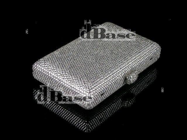 ФОТО 7748S SILVER Crystal Lady fashion Bridal Party Metal Evening purse clutch bag case box handbag