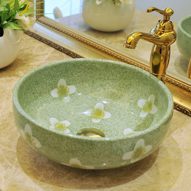 vasque ceramique ou porcelaine Ronde Salle De Bains Lavabo En Céramique Vasque Lavabo Vestiaire Porcelaine  Navire Évier salle de bains