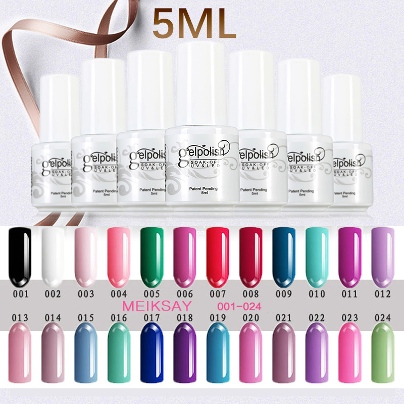 Cores de Unhas de Gel 5 ml Soak Off Gel UV Unha Polonês Gel polonês 120 Cores Popular Agradável Gelpolish Embeber Fora Da Arte Do Prego Manicure