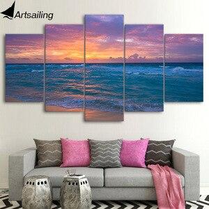 5 sztuka płótno HD drukuj Home Decor fale ocean beach obrazy na ścianie salonu plakat obraz darmowa wysyłka UP-2338B