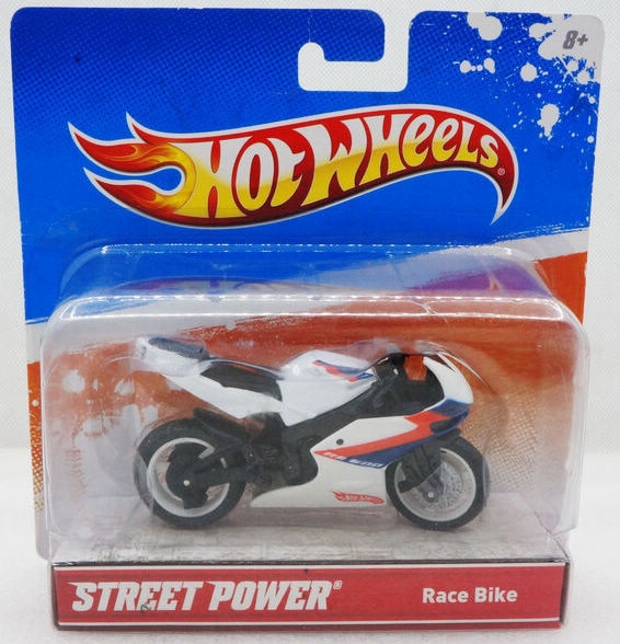 14848bcac2c 1:18 Hot Wheels Street Power Race Bike white+red simulation motorcycle  model ABS & alloy toys MOTOR bike collection