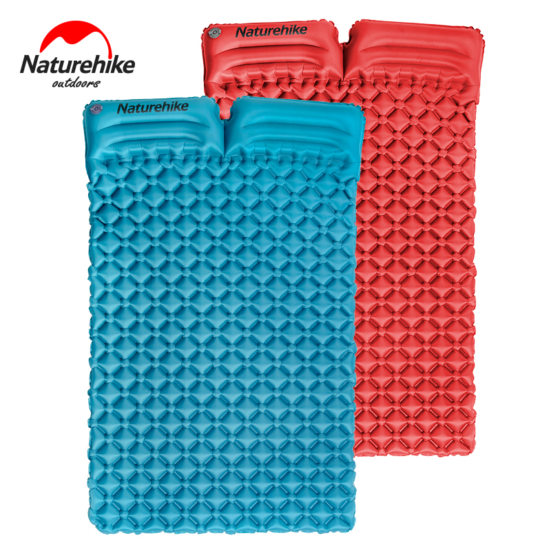 Naturehike outdoor camping mat double inflatable mattress sleeping pad hiking travel mat 2 person inflatable bed durable thicken pvc car travel inflatable bed automotive air mattress camping mat with air pump