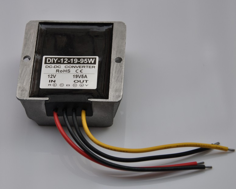 цена на 12V(9V-18V) Step Up To 19V 5A 95W DC DC Converter Boost Power Module For Laptop Car Power Adapter Regulator Waterproof