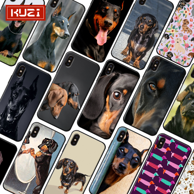 KUZI Cute Dog Luxury Case for Iphone X XS 8 7 6 6s Plus Coque Soft Silicone Phone 2019 New