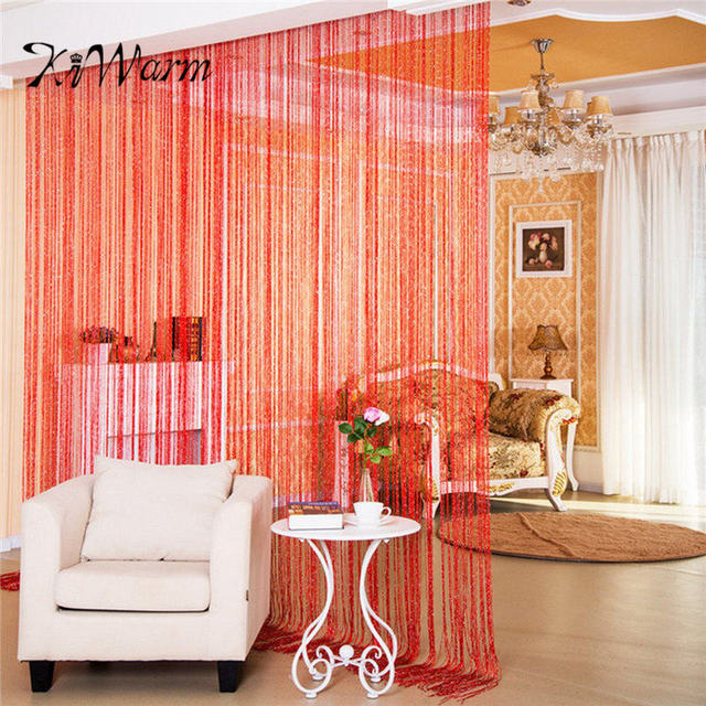 KiWarm Colorful Fashion String Door Curtain Beads Room Divider Window Panel Curtain  Hanging Screen Crystal Fringe
