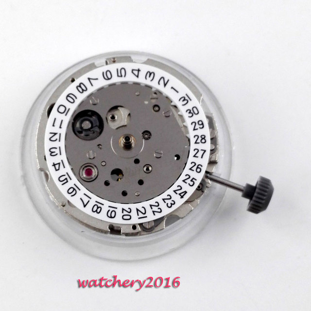 New 21 jewels miyota 8215 date window automatic mechanical Men's watch movement