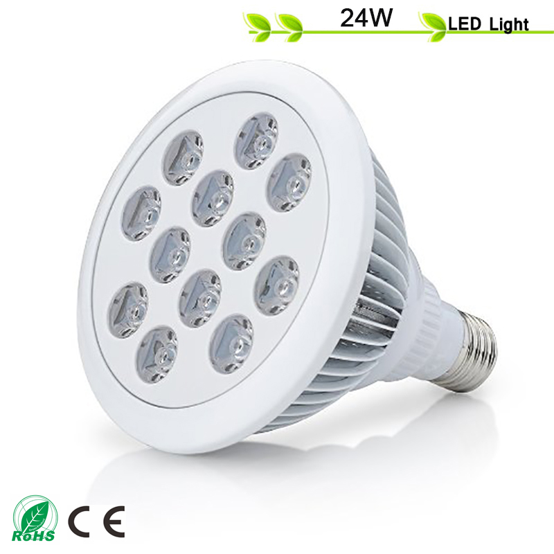 ФОТО 2016 Newest 24W E27 AC85-265V 8Red 4Blue High Efficiency LED Grow Light for Flowering Plant and Hydroponics System