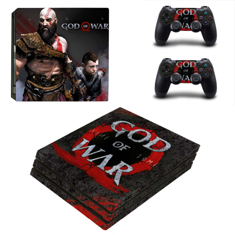 All New God Of War Limited Edition Game Cover Stickers For Playstation 4 Ps4 Pro Console Controller Protect Skin Decals