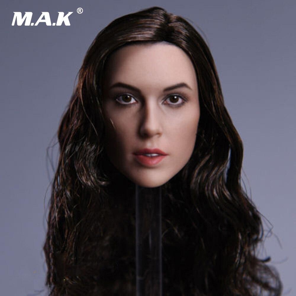1/6 Весы чудо-женщина гадот jx-09c голова с вьющиеся длинные волосы для 12 дюйм(ов) рисунок