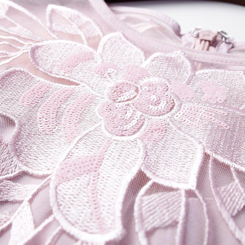 Nouvelle Arrivée Broderie Ak8068 embroidery Plissée À De Robe O Mode Fleur Courtes Mesh Patchwork Dress Robes Dress cou Manches RSrqdSw