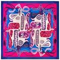 Super Gran Bufanda de Las Mujeres de Seda de la Tela Cruzada 100*100 cm Bufandas Cuadradas de Regalo de Alta Calidad de La Manera Correa de Cadena de Impresión de Anacardo Mantones de seda