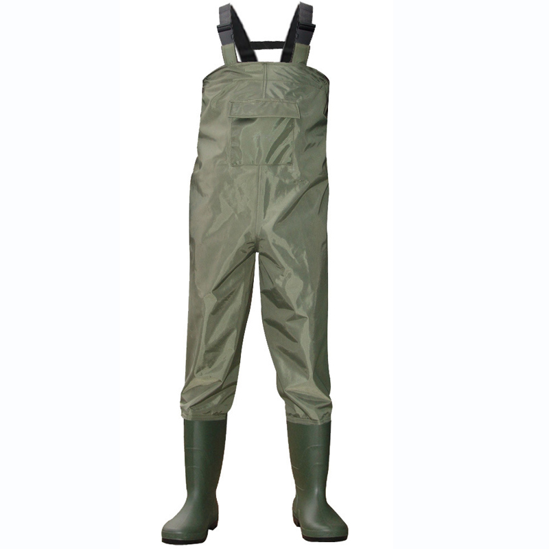 цена на Rafting Wear Waterproof Wader Stocking Foot Chest Waders for Hunting, Fly Fishing Wader Fly Fishing Breathable Waders with Shoes