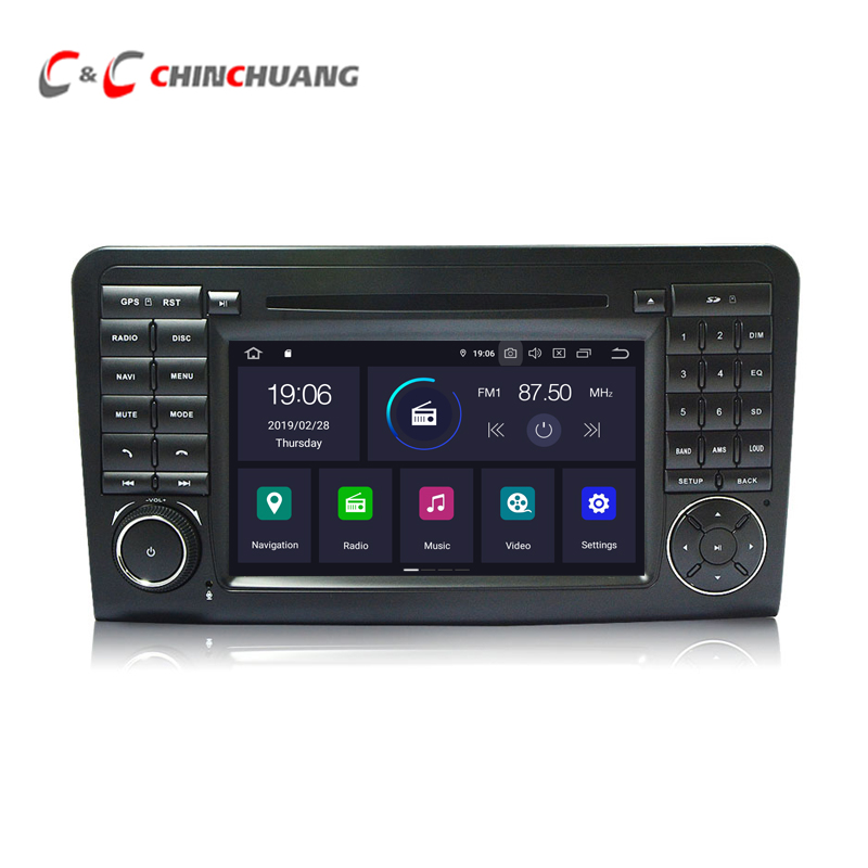Android 9.0 Car DVD Player for <font><b>Mercedes</b></font> Benz <font><b>ML</b></font> GL CLASS <font><b>W164</b></font> ML350 ML450 X164 GL320 <font><b>Radio</b></font> GPS DVR Wifi 4G Audio Video System image