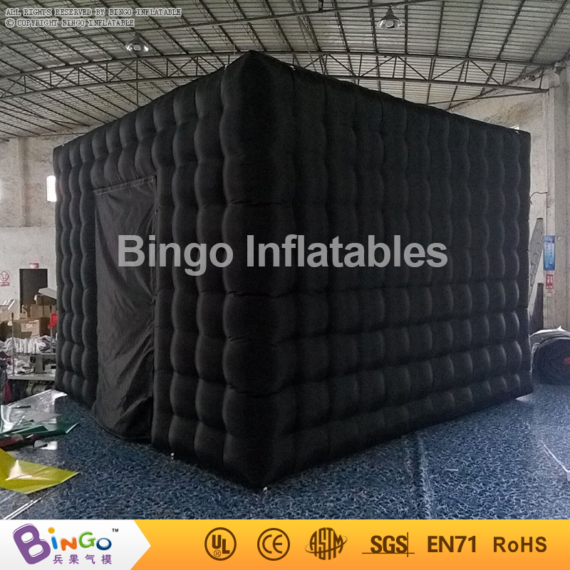 black inflatable photo booth,3.6m cube inflatable tent with 2 doors for party/events/advertising BG-A1073 toy tent  free shipping 3x3x2 4m inflatable photo booth cube inflatable photo booth led inflatable photo booth for sale