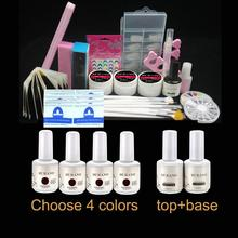 BURANO set 005 Nail Art UV Gel Kits Tool UV lamp Brush Remover nail tips uv gel polish
