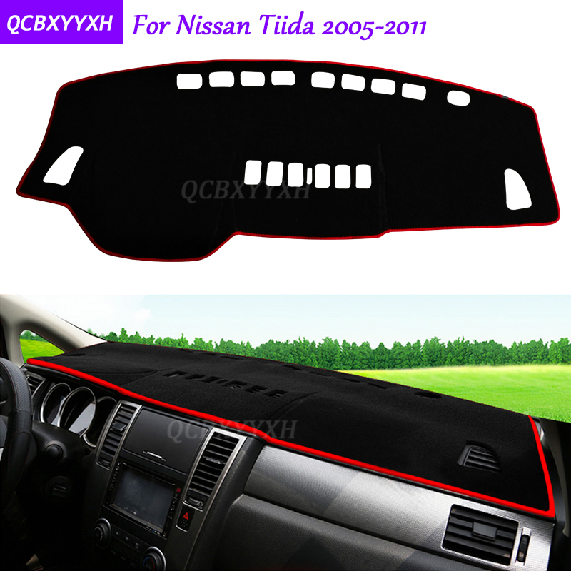 For Nissan Tiida 2005-2011 Dashboard Mat Protective Interior Photophobism Pad Shade Cushion Car Styling Auto Accessories