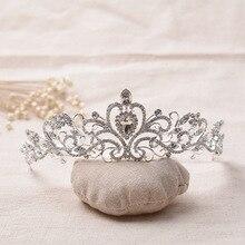 Europeo de la manera Headwear Crystal Rhinestone Tiara de La Corona de Novia Joyería Del Pelo de Novia Casarse Boda Accesorios Para el Cabello Envío Libre