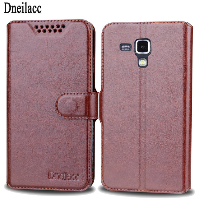 Dneilacc For Samsung Galaxy Duos 7580 S Duos 2 GT S7562 GT-S7580 GT-S7560 Retro Leather Business Case Flip Heavy Duty Protection