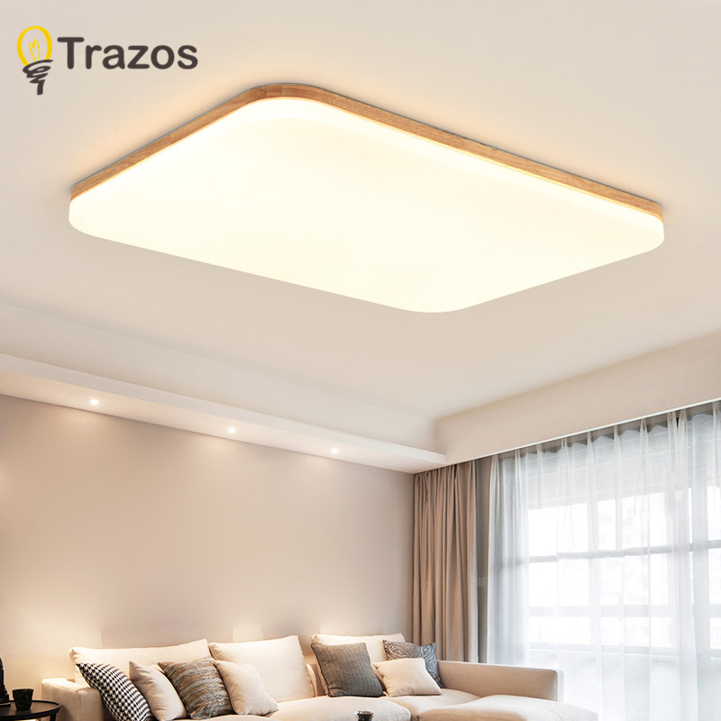 Wooden LED ceiling lighting ceiling lamps for the living room chandeliers Ceiling for the hall modern ceiling lamp high 5cm circular ceiling wooden lighting lamps