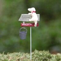INKANEAR A13 ZAKKA Mini Resin Signpost Dog Bonsai Micro Fairy Miniatures Decoration Toys Terrarium Ornament Accessories